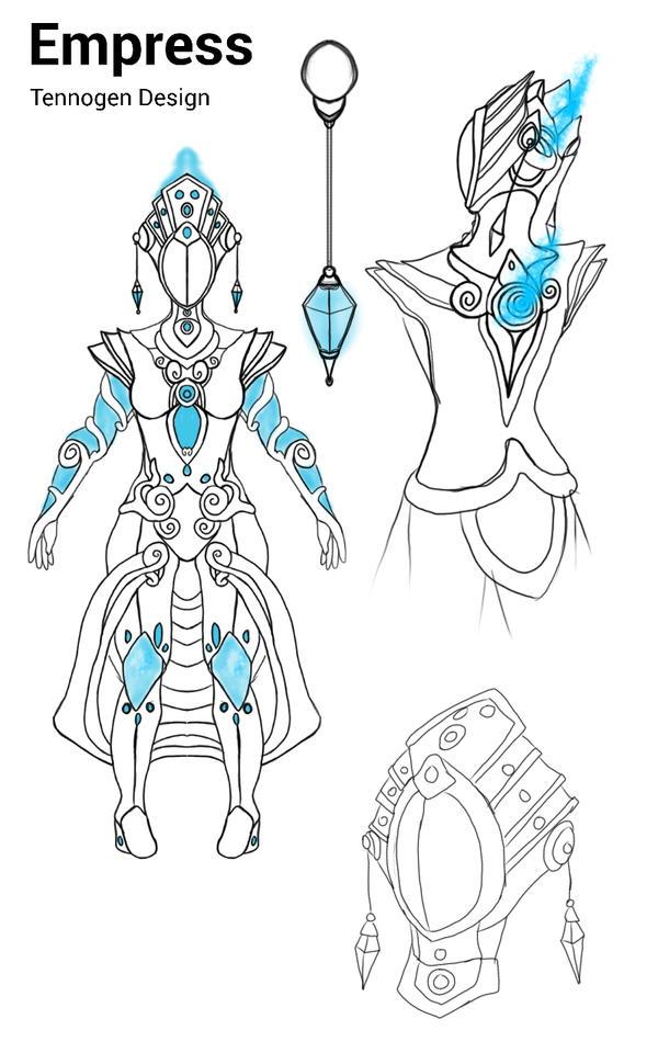 Nova Tennogen concept: empress by DrkMako