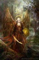 Battle angel by Allnamesinuse