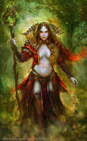 Forest demoness by Allnamesinuse