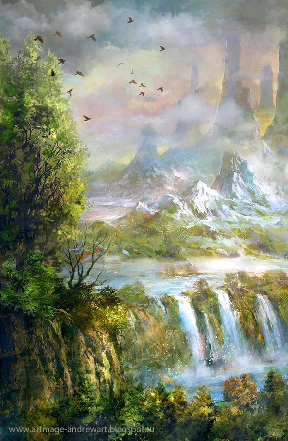 Waterfall by Andrey Vasilchenko
