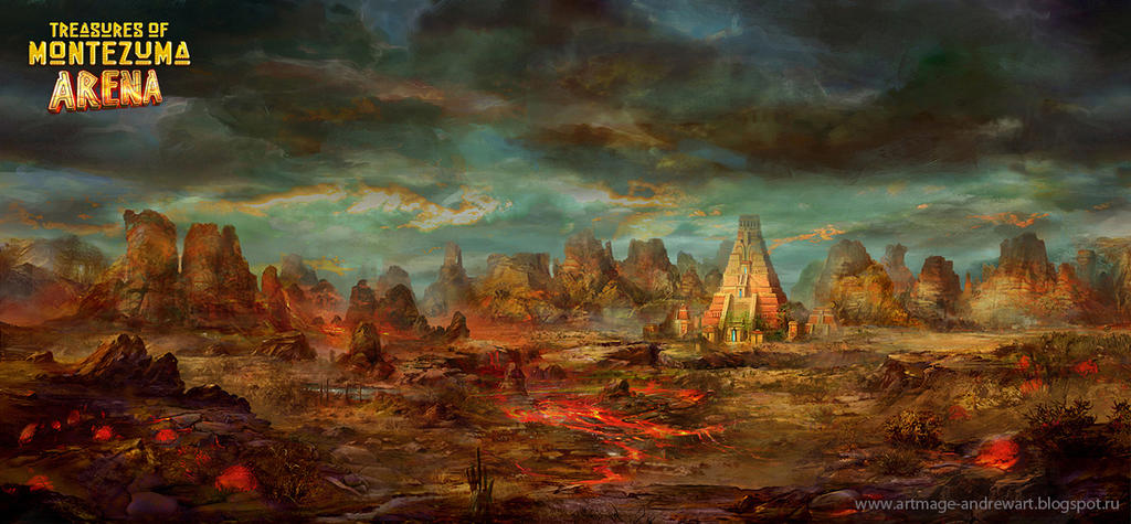 Treasures of Montezuma Arena - background by Andrey Vasilchenko
