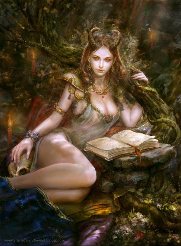 Forest Demoness 2 by Andrey Vasilchenko