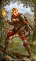 Fire archer by Allnamesinuse