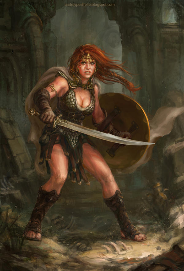 Red Sonja fanart by Allnamesinuse