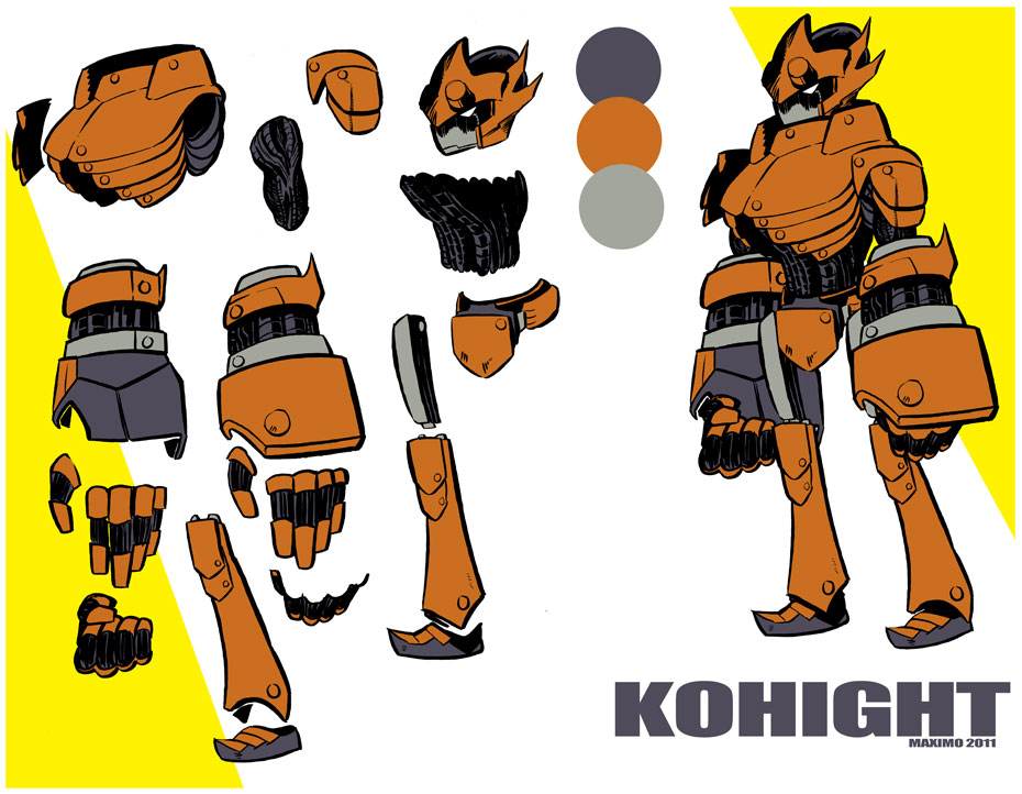 KOHIGHT Mech design by MaximoVLorenzo