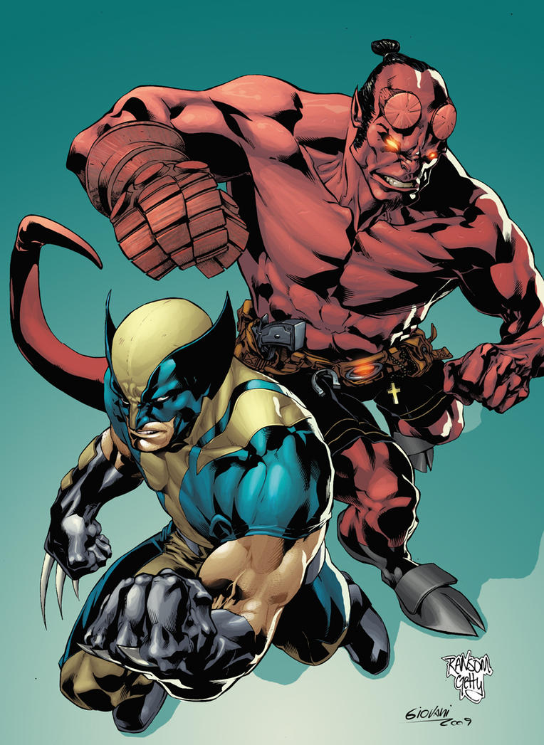 Wolverine and Hellboy by GiovaniKososki