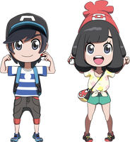 Pokemon SUN and MOON Trainers by SYKER-SIX