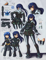 Raven with skirt design by vr7