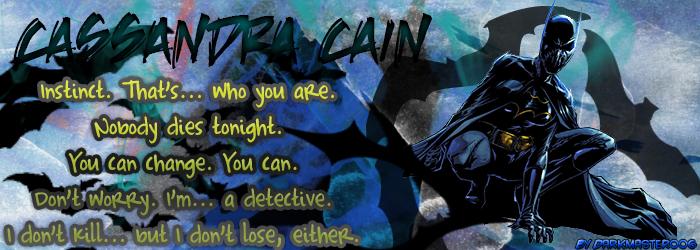 Cassandra Cain phrases v1 by Darkmaster006