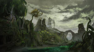 Poisonous swamp, of the ancient lost city
