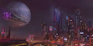 Ciudad cyberpunk.2 by Krannart