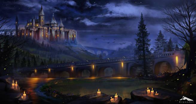 dark magic fantasy castle