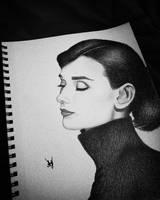 Audrey Hepburn Sketch by AndyVRenditions