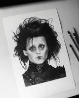 Edward Scissorhands Drawing by AndyVRenditions