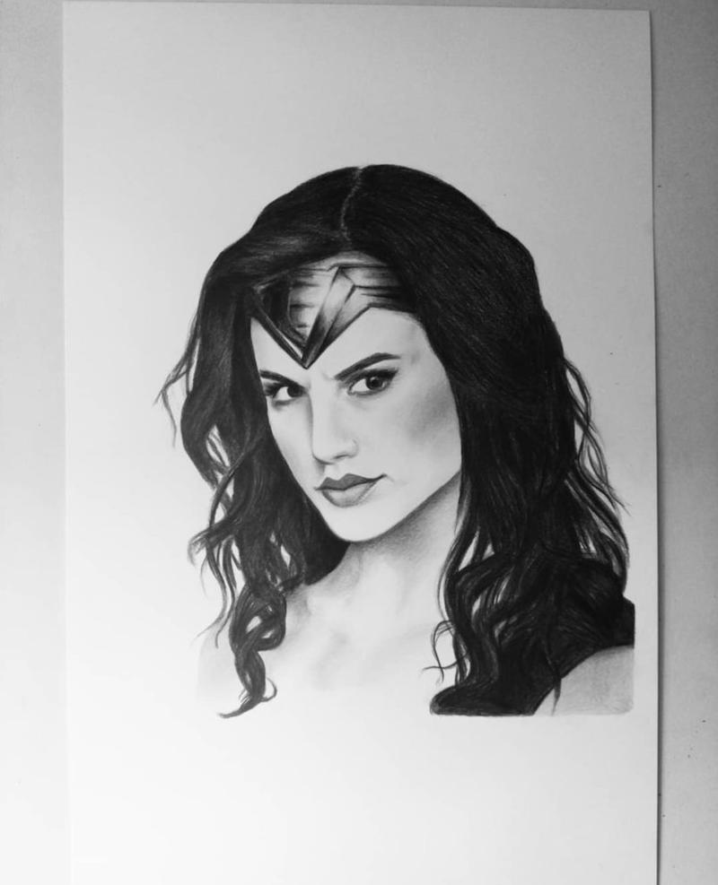 Wonder Woman Drawing
