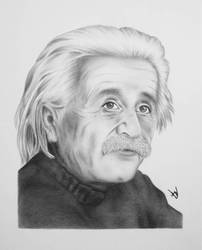 Einstein Drawing by AndyVRenditions