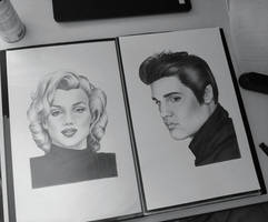 Elvis and Marilyn by AndyVRenditions