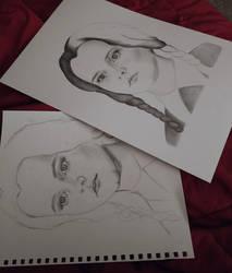 Wednesday Addams Sketch VS Drawing
