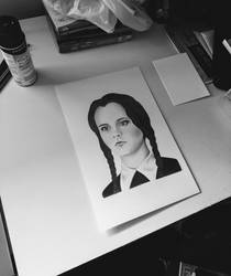 Wednesday Addams by AndyVRenditions