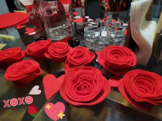 Felt Roses