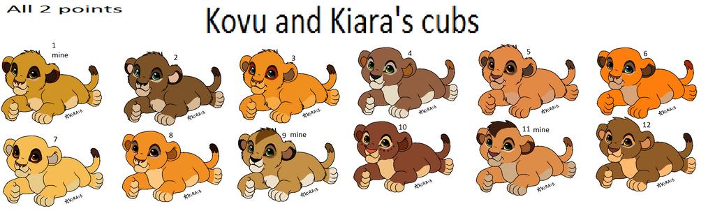Kovu and Kiara fan cubs all 2 points by ...