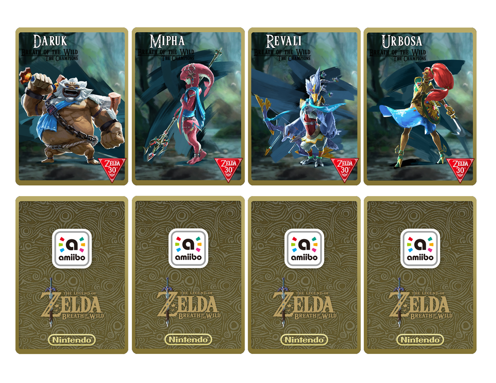 Dramatic image in printable amiibo cards