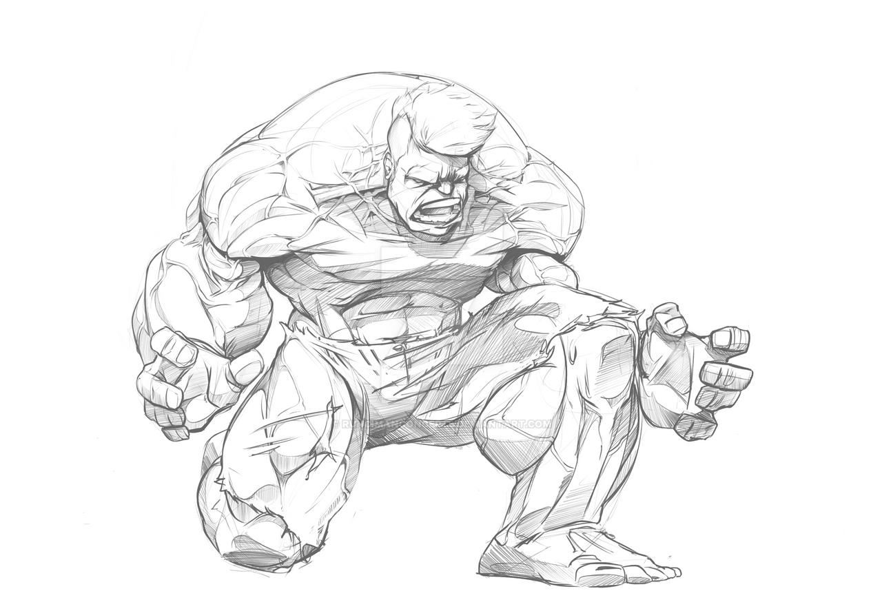 Hulk Pencils by RuncimanConcepts