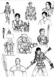 Dragon Age 2 Sketch Dump by minijuuku