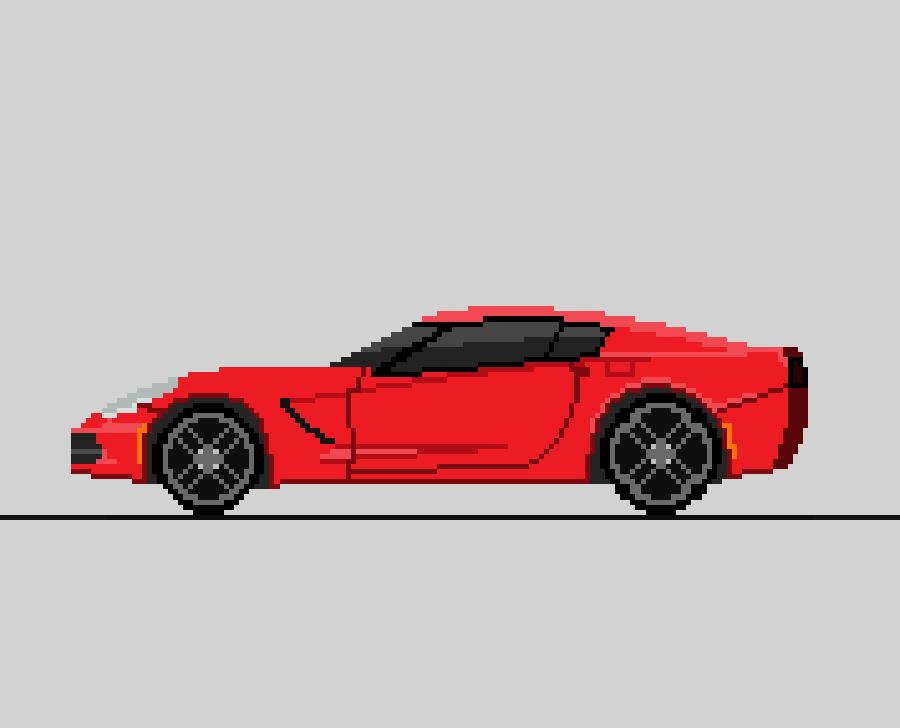 Chevrolet Corvette Pixel Art By Pixelswarehouse On Deviantart