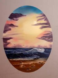 Ocean Sunrise by babyshortie17