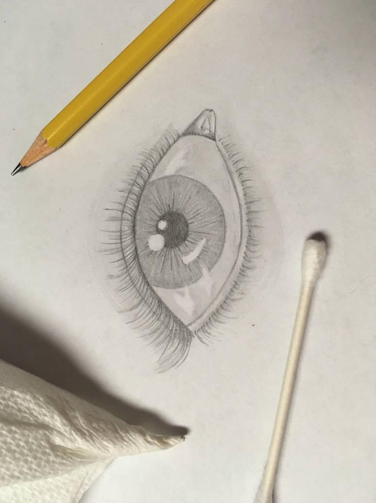 Eye in pencil by babyshortie17