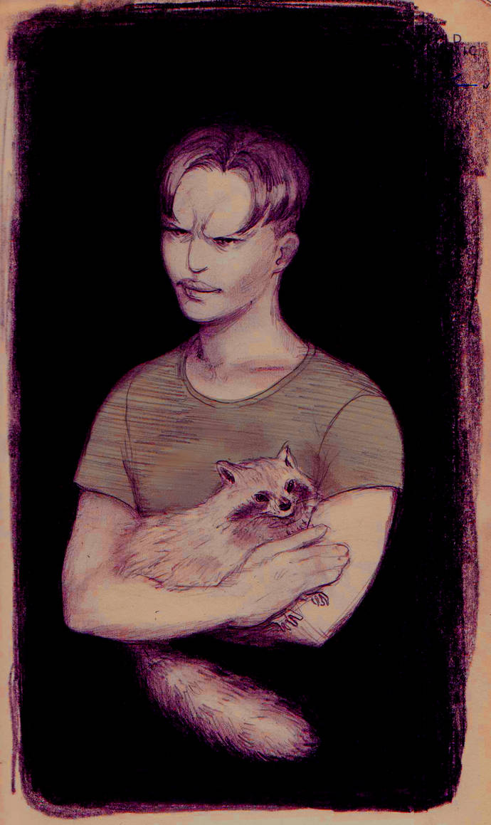 Man with a Racoon