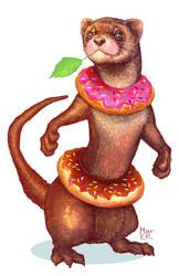 Donut Ferret by Mar-ER