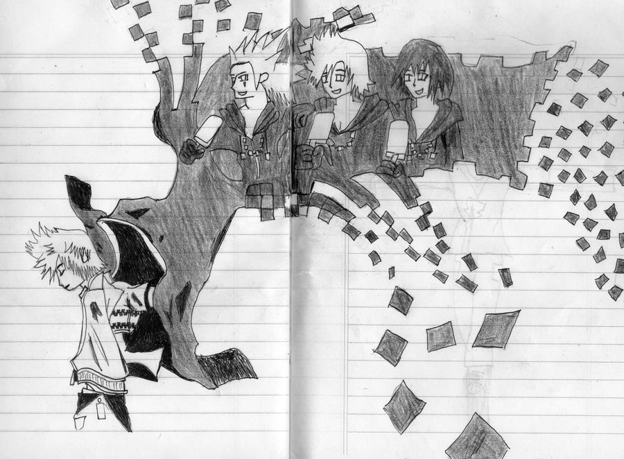 Xion And Roxas And Axel Roxas Axel y Xion Final kh