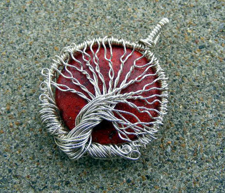 Wire wrap red coral pendant by create a pendant on deviantart wire wrap red coral pendant by create a pendant aloadofball Image collections