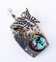 Steampunk Butterfly Pendant 2 by Create-A-Pendant