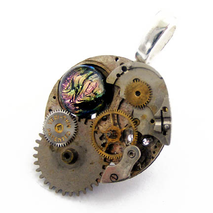 Steampunk GEARS OF THOUGHT by Create-A-Pendant