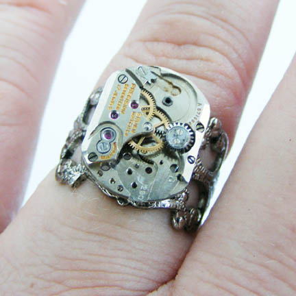 Steampunk Sci Fi Ring by Create-A-Pendant