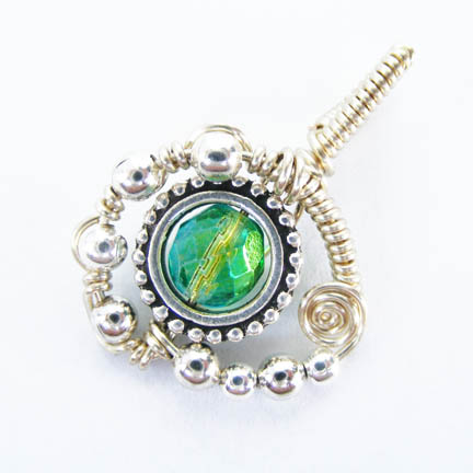 Coiled Wire Wrap Pendant 2 by Create-A-Pendant