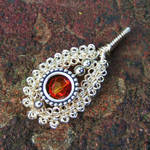 Gypsy Coiled Wire Wrap Pendant
