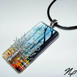 Tree of Life Glass Pendant