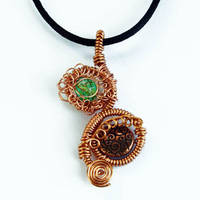 Copper GYPSY PRINCESS Pendant by Create-A-Pendant