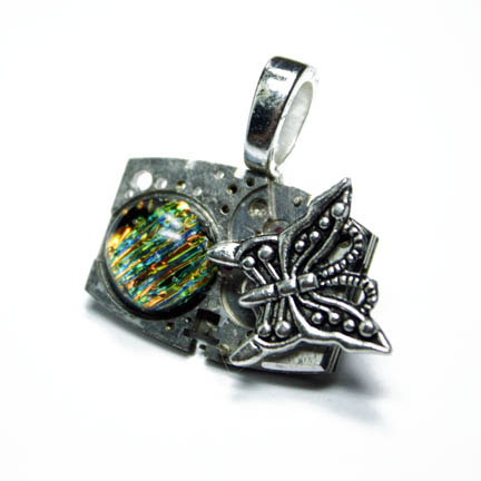 STEAMPUNK BUTTERFLY PENDANT 3 by Create-A-Pendant