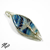Banded Agate Tree of Life by Create-A-Pendant
