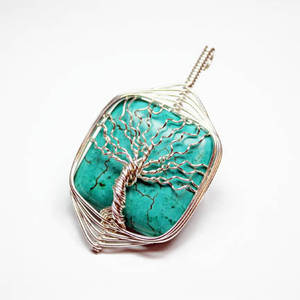 Wire Turquoise Tree of Life