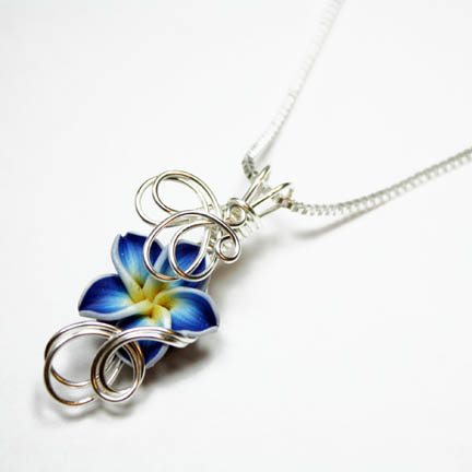 Wire Wrap Flower Pendant 2 by Create-A-Pendant