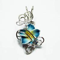 Wire Wrap Flower Pendant 9