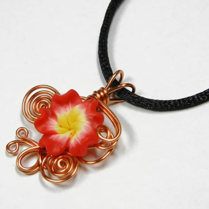 Wire Wrap Perfume Pendant 6 by Create-A-Pendant