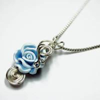 Blue Rose Perfume Pendant