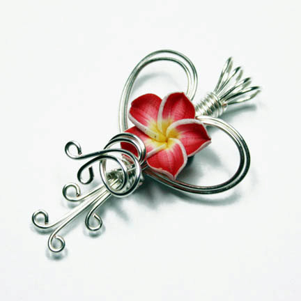 Custom Valentine Tropical Flower Perfume Pendant by Create-A-Pendant